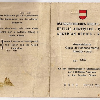 "1945 Austrian ""consular"" Ausweis issued in Italy"