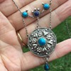 Antique Silver Enamel Art and Craft Necklace/Pendant