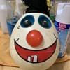 Vintage egg face clown toy