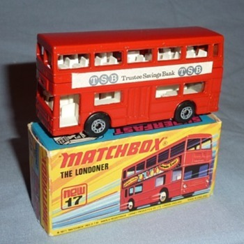 "Matchbox Superfast no.17 the Londoner ""Trustee Savings Bank"""