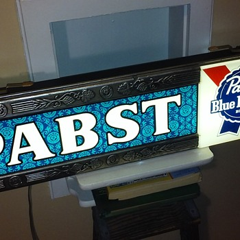PABST BLUE RIBBON lighted sign - Breweriana