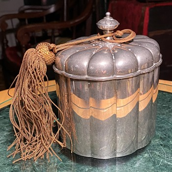 Silver Tea Caddy with an Old Tassle on it? - Silver