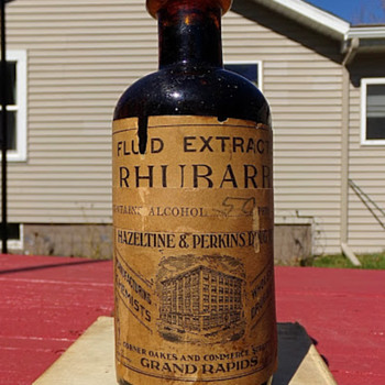 Rhubarb Extract and Alcohol Medicine, Mostly Full - Bottles