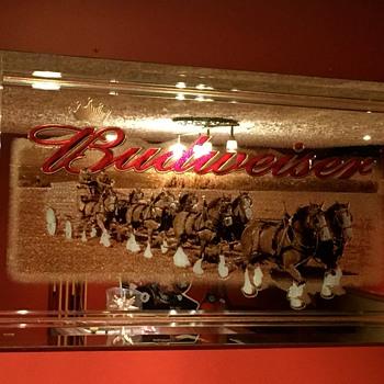 Budweiser Mirror - Breweriana