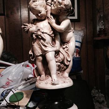 Beautiful lamp with children