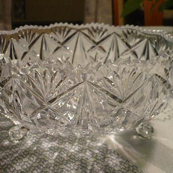 Cut Glass Bowl - Glassware