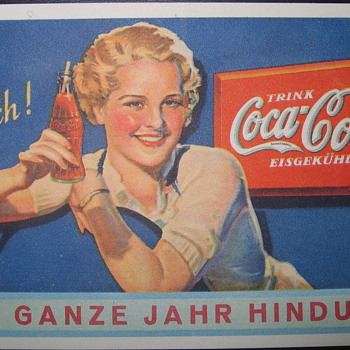 german pocket calender 1936, the first issue (year) known to excist - Coca-Cola