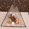 Triangular glass diorama - Victorian?