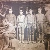 RARE WWI US Marines in the dug-out photo