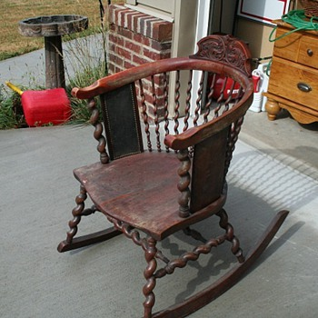 William ans Mary halfback rocking chair - Furniture
