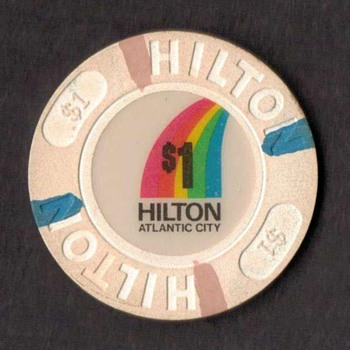 Hilton Casino $1 Gaming Chip - Games