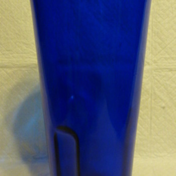 Catholic Church Sanctuary Cemetery Blue Glass Votive Candle Holder - Art Glass
