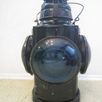 Antique 1930's Handlan St. Louis USA NYC & STL RR Switch Railroad Lantern  - Railroadiana