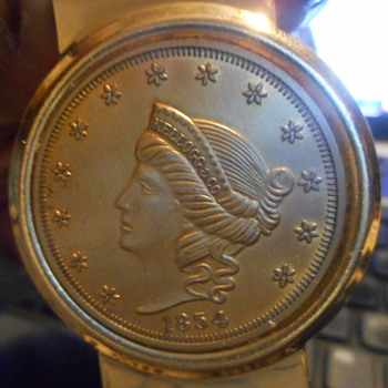 1854 Kellogg $20 Gold Coin - Gold