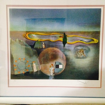 Salvador Dali signed lithograph #77 of 300. No Title