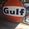 GULF 6' porcelain sign