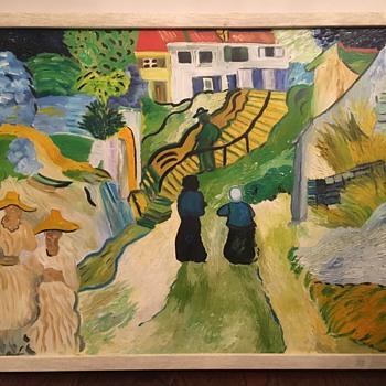 Copy of Van Gogh's L'escalier d'Auvers (Bright Vivid Colors And Well Made) - Fine Art