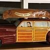 """Post war Wyandotte lithographed """"Toytown Estate"""" Woodie Wagon AND Leinies"""