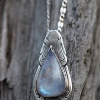 Upcycled Gorham Spoon Pendant  - Silver