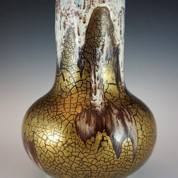 Rare (c.1908-1911) Louis Franchet Ceramic Vase w/ Unusual Glaze