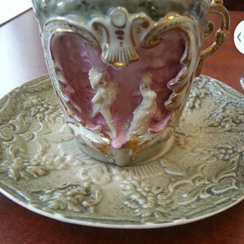 antique german teacup - China and Dinnerware