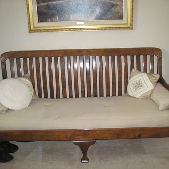 Great Grandma's slat back sofa - Furniture