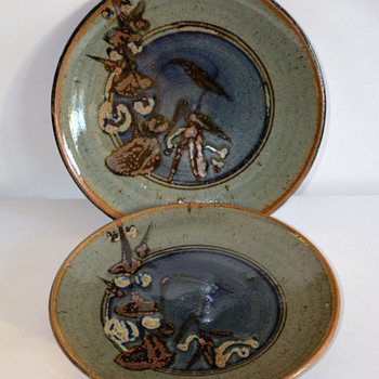 Stoneware Studio Pottery Chargers  - Pottery