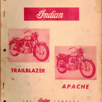 1957 - Indian Motorcycles Repair Manual - Paper