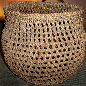 Northcoast Open Weave Clam Basket - Native American