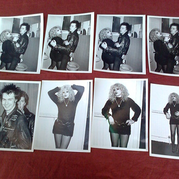 Sid Vicious & Nancy Spungen press Photos original 1978 Pierre Benain - Music Memorabilia