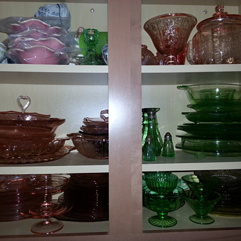 I love depression glass - Glassware