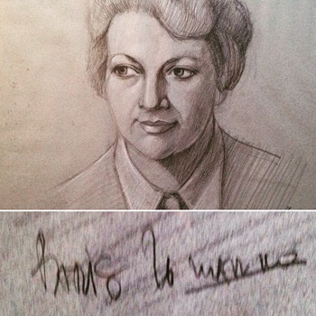 Mid Century charcoal drawing portrait. Help identify artist?