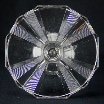 Adams & Co. 'Clear Ribbon' cake stand c1881 - Glassware