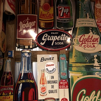Soda Bottle Sign Collection - Signs