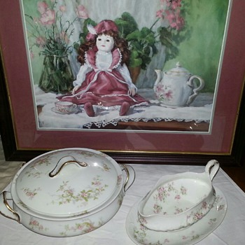 Haviland Limoges Gorgeous Covered Casserole & Gravy Boat... - China and Dinnerware