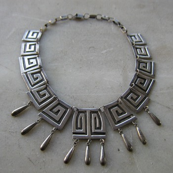 Silver necklace marked Mexico - Fine Jewelry