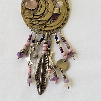 Native American Sterling Pendant - Native American