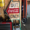 500th post...Drink Coca-Cola Double-Sided Tin Arrow...Out Only