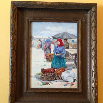 Set of 3 paintings by Carolus Pallya - Fine Art
