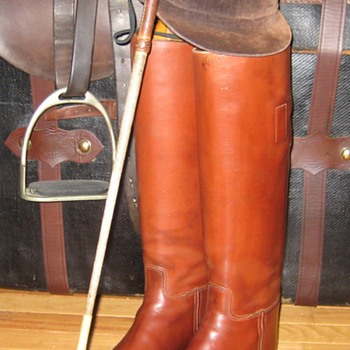 Vintage Manfield & Sons Equestrian Bespoke Riding Boots - Shoes