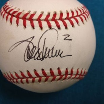 Unknown Autographed baseball - Baseball
