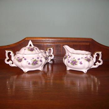 "Beautiful ""Leffon"" China Cream & Sugar Bowl - China and Dinnerware"