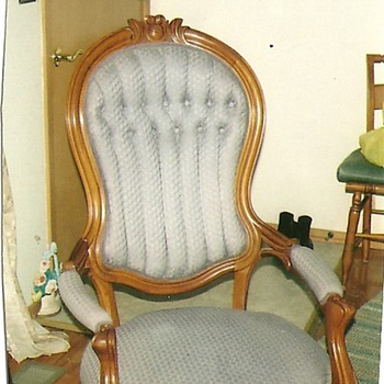 Fine Eastlake rocker nicely restored. Victorian Chair restored - Furniture