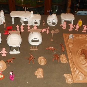 Marx Flintstones Playset Reissue 1990s - Toys