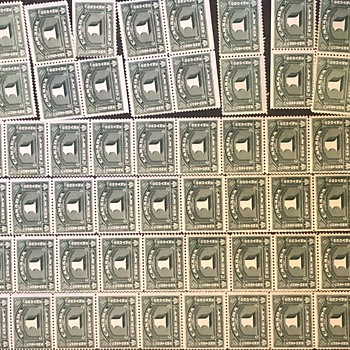 1935 Unused One Cent Canadian Custom Stamps - Stamps