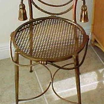 cutest Italian mid century gilt iron chair Bridget goes to Itay - Furniture