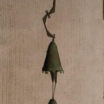 1960's Modernist PAOLO SOLERI Arcosanti Bronze Double Wind Bell - Mid-Century Modern