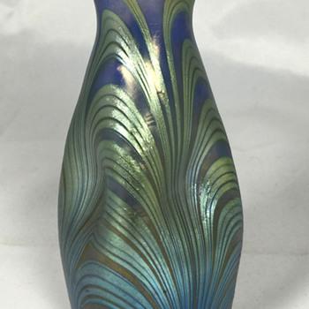 "Loetz Blue Opal Unknown Phänomen Genre Vase. 4.75"" tall. Circa 1902-03 - Art Glass"