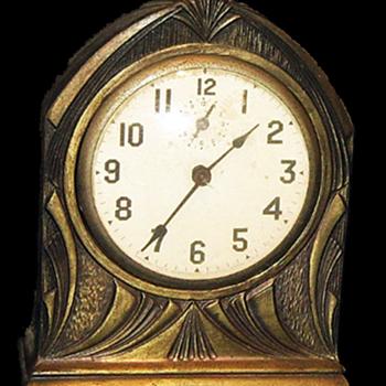 Ingraham Art Deco Egyptian Style Alarm Clock.
