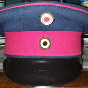 Imperial German schirmmütze of an officer of the Duchy of Saxe-Weimar - Hats
